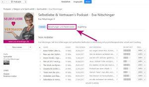 iTunes Bewertung Desktop